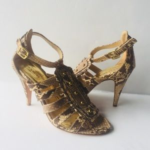 Coach Womens Animal Print High Heels Size 7B